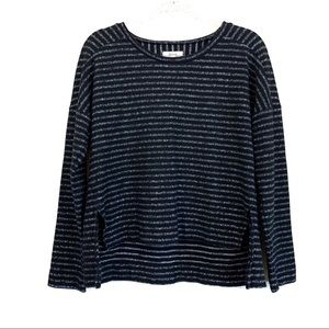 Madewell Boxy Striped Marled Striped Sweater